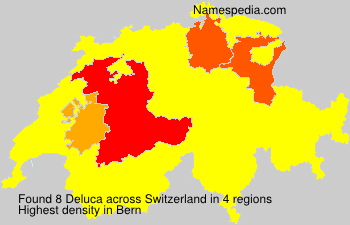 Surname Deluca in Switzerland
