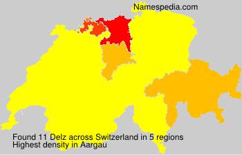 Familiennamen Delz - Switzerland