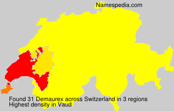 Surname Demaurex in Switzerland