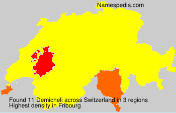 Surname Demicheli in Switzerland