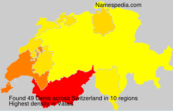 Surname Denis in Switzerland