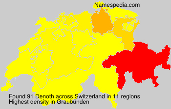 Surname Denoth in Switzerland