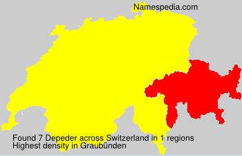Surname Depeder in Switzerland