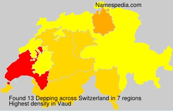 Surname Depping in Switzerland