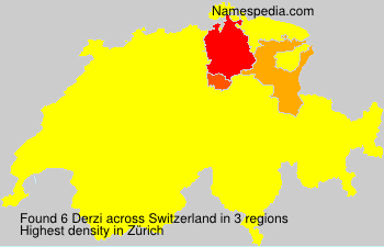 Surname Derzi in Switzerland