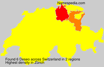 Surname Deseo in Switzerland