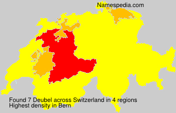 Surname Deubel in Switzerland
