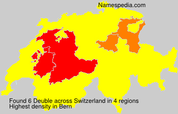 Surname Deuble in Switzerland