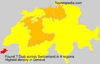 Surname Diab in Switzerland