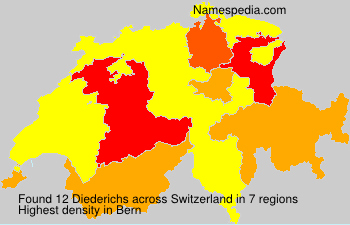 Surname Diederichs in Switzerland