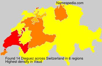 Surname Dieguez in Switzerland