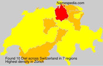 Surname Diel in Switzerland