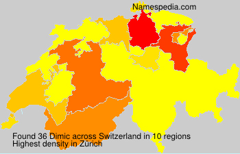 Surname Dimic in Switzerland