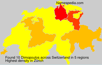 Surname Dimopoulos in Switzerland