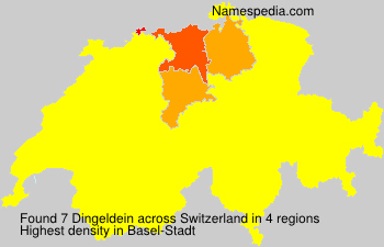Surname Dingeldein in Switzerland