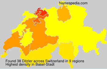 Surname Ditzler in Switzerland