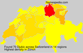 Surname Djukic in Switzerland