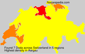 Surname Doda in Switzerland