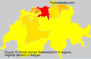 Surname Donat in Switzerland