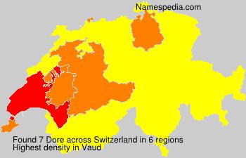 Surname Dore in Switzerland