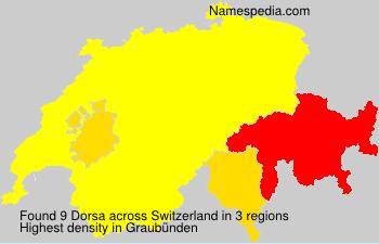 Familiennamen Dorsa - Switzerland