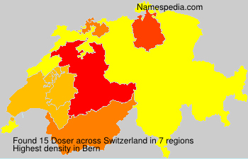 Surname Doser in Switzerland
