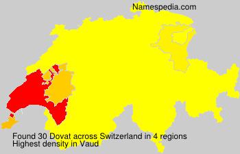 Surname Dovat in Switzerland