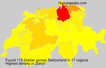 Surname Dreher in Switzerland