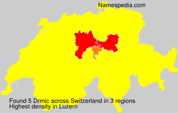 Surname Drmic in Switzerland