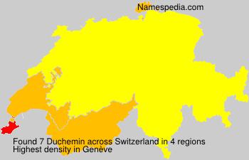 Surname Duchemin in Switzerland