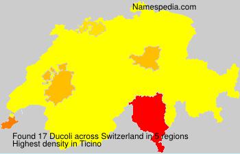 Surname Ducoli in Switzerland