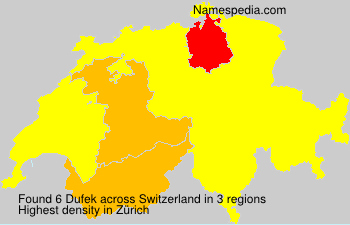 Surname Dufek in Switzerland