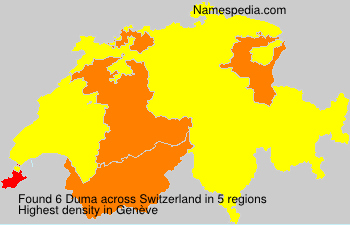 Surname Duma in Switzerland