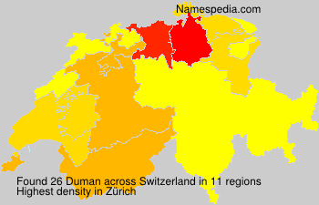 Surname Duman in Switzerland