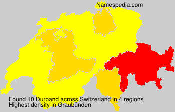 Surname Durband in Switzerland