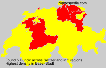 Surname Duricic in Switzerland