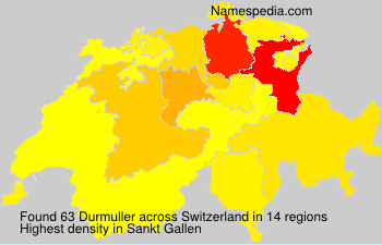 Surname Durmuller in Switzerland