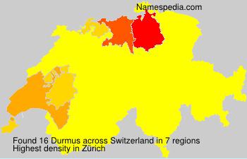 Familiennamen Durmus - Switzerland