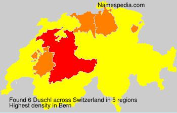 Surname Duschl in Switzerland