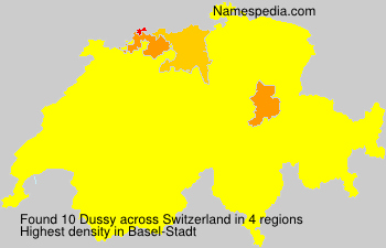 Surname Dussy in Switzerland