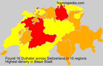 Surname Duthaler in Switzerland
