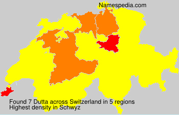 Surname Dutta in Switzerland