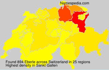 Surname Eberle in Switzerland
