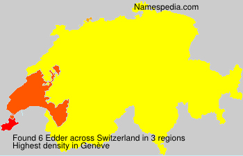 Surname Edder in Switzerland