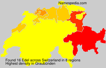 Surname Edel in Switzerland
