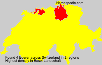 Surname Ederer in Switzerland
