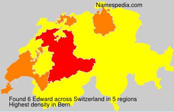 Surname Edward in Switzerland