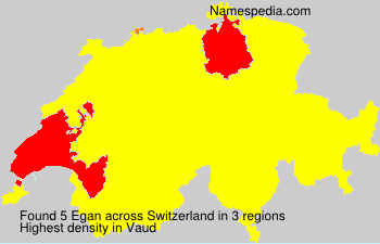 Surname Egan in Switzerland