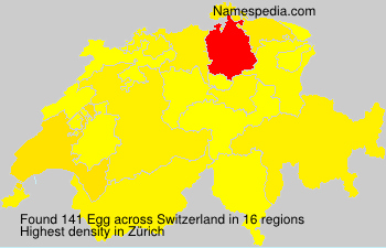 Surname Egg in Switzerland