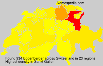 Surname Eggenberger in Switzerland